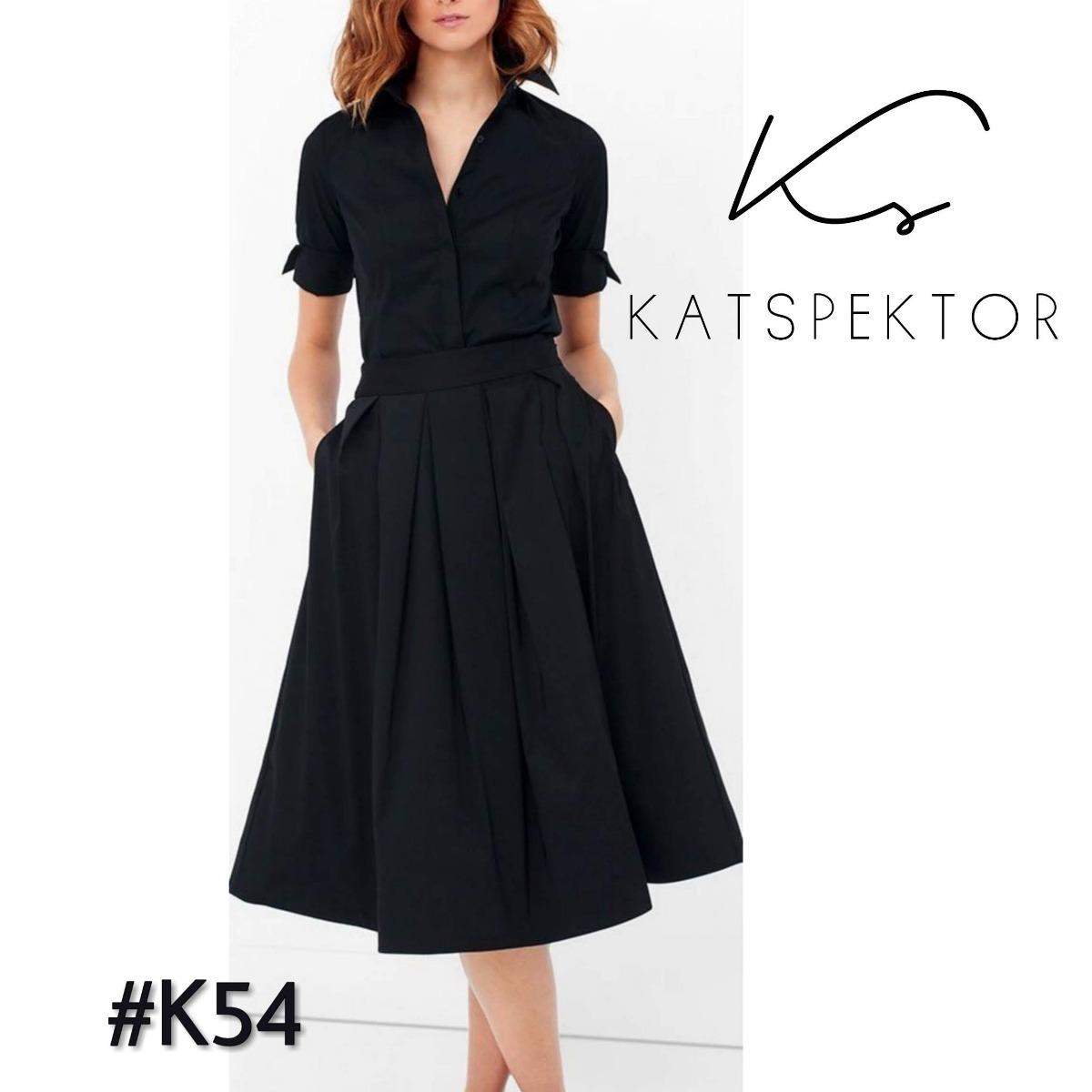 75982f6535 Vestido Camisero Falda De Tablas Katspektor Modelo  k54 -   2.630