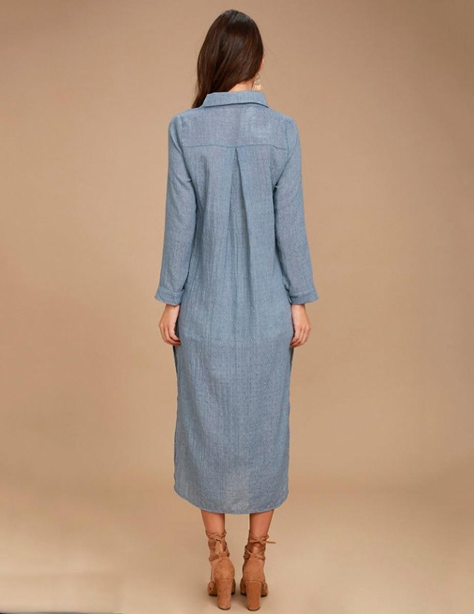5eb4bc4e9 vestido camisero importado algodón verano 40%off diseño. Cargando zoom.