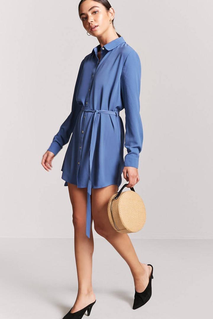 4eda413e1f vestido camisero manga larga forever 21 moda otoño invierno. Cargando zoom.