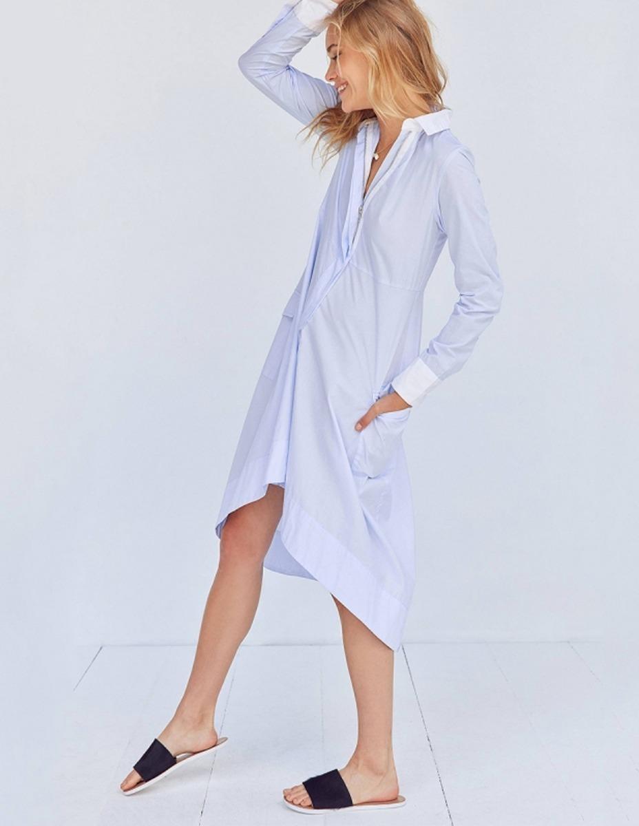 a2c1e8bde vestido camisero mujer algodón verano fiesta casual 40%off. Cargando zoom.