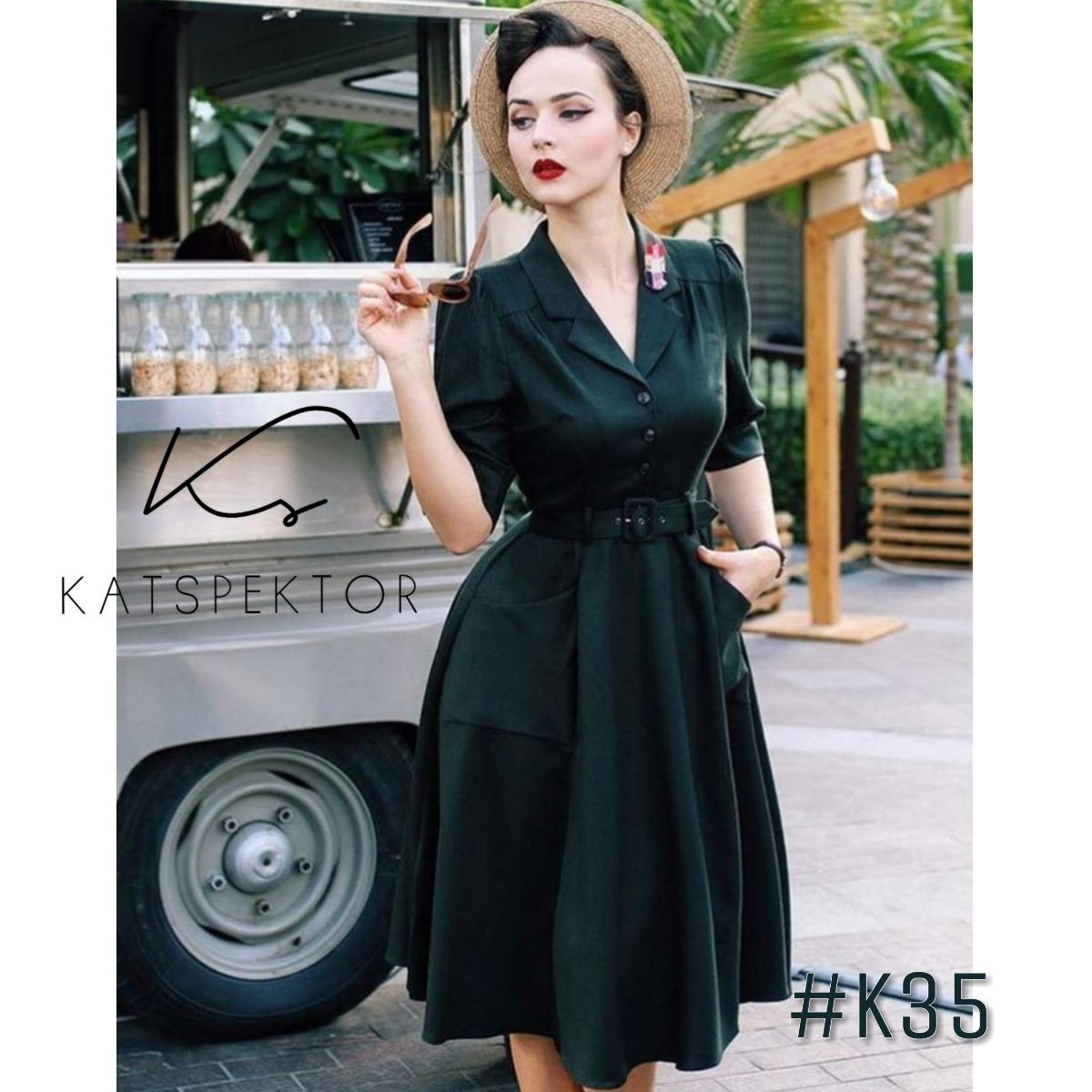 e824ead7c9 Vestido Camisero Vintage Elastizado Katspektor  k35 -   3.115