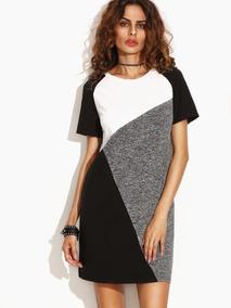 9b4d52ff Vestido Camiseta Mujer Color Combinado