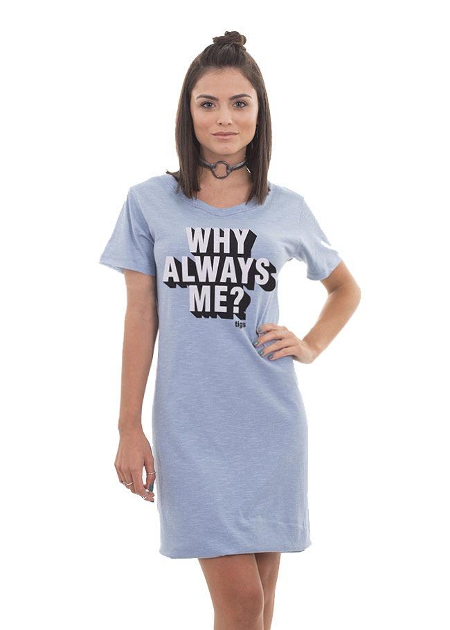 e960aac01 vestido camisão longline feminino college cinza p ao gg. Carregando zoom.