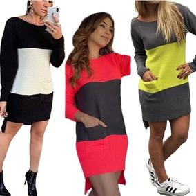 de951bee5dce Vestidos De Lã Para Inverno - Vestidos Femeninos com o Melhores Preços no  Mercado Livre Brasil