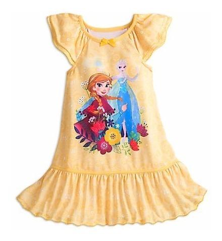 bea68c28f71387 Vestido Camisola Frozen Elsa E Anna Disney Store 7/8 Anos