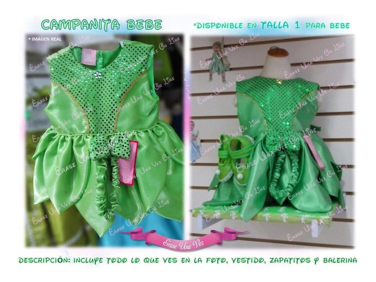 Vestido Campanita Bebe Disfraz Excelente Calidad Princesa