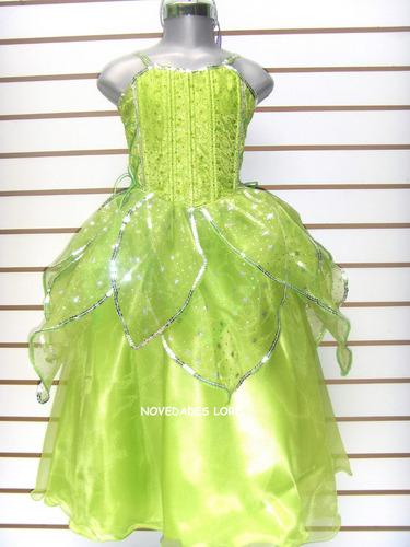 vestido campanita talla 8 años princesa de lujo niñas