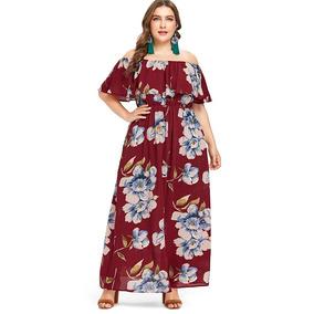 Vestido Campesino Casual Dama Estampado Floral Para Mujer