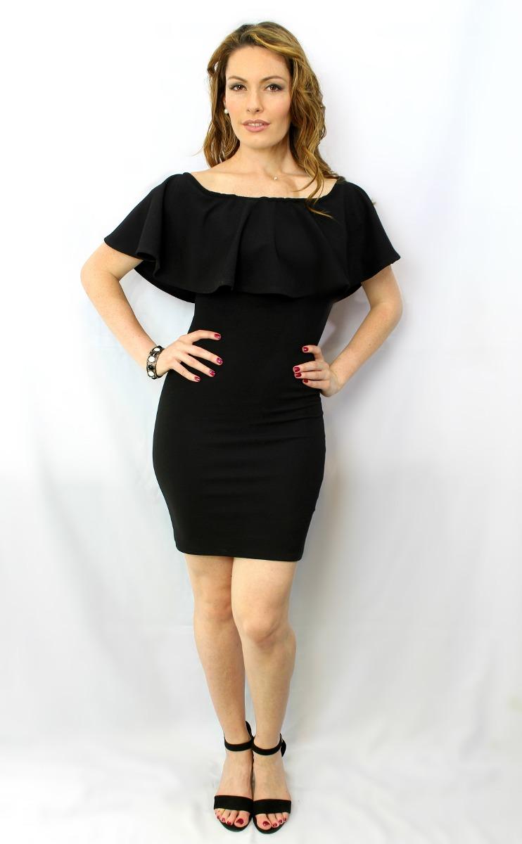 Vestido Campesino Corto Negro - Maat Clothing - $ 499.00 En Mercado Libre