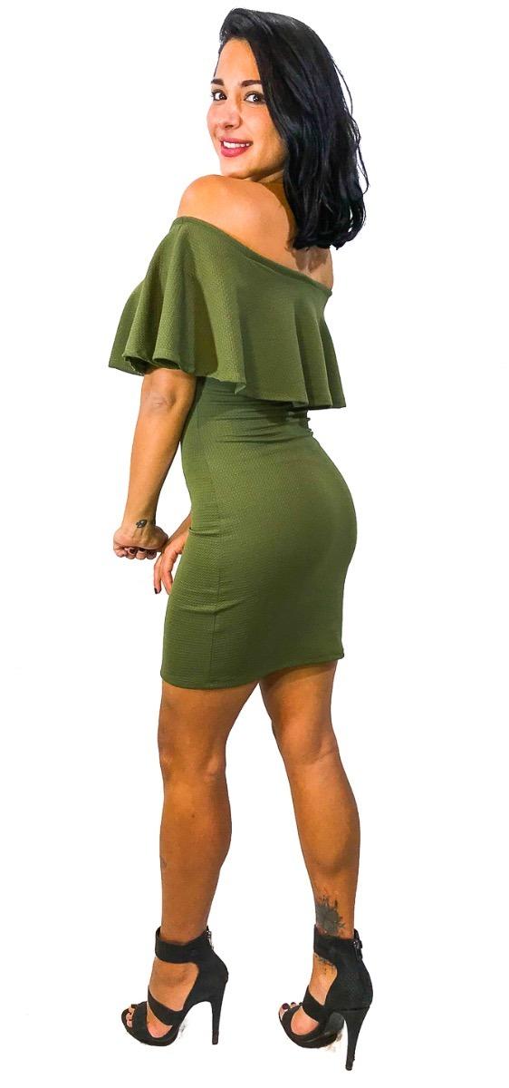 Vestido Campesino Corto Verde Militar - Maat Clothing - $ 499.00 En Mercado Libre