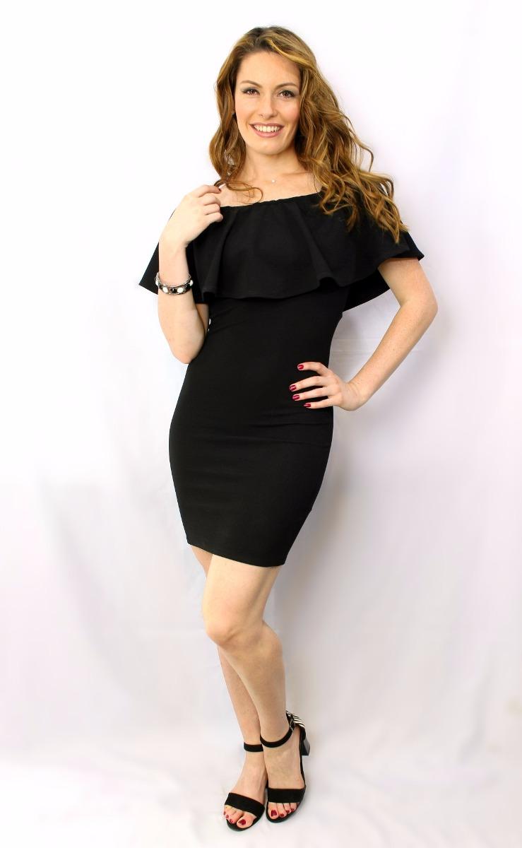 Vestido Campesino Negro - Maat Clothing - $ 430.00 en Mercado Libre