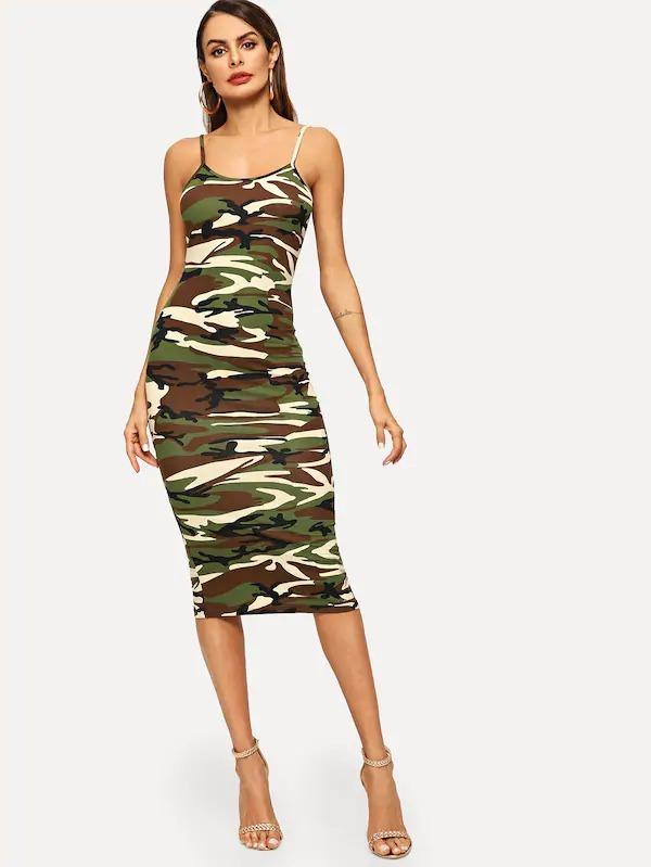 22ba09f59 Vestido Camuflaje Tirant Vestidos Casuales Cortos Ropa Mujer ...