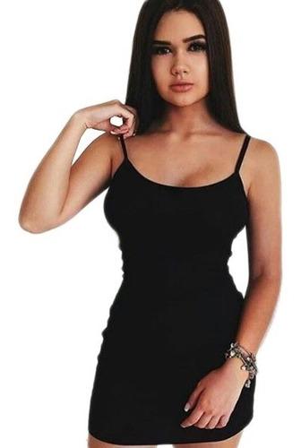 vestido canelado tubinho sem bojo curto d alcinha + brinde68