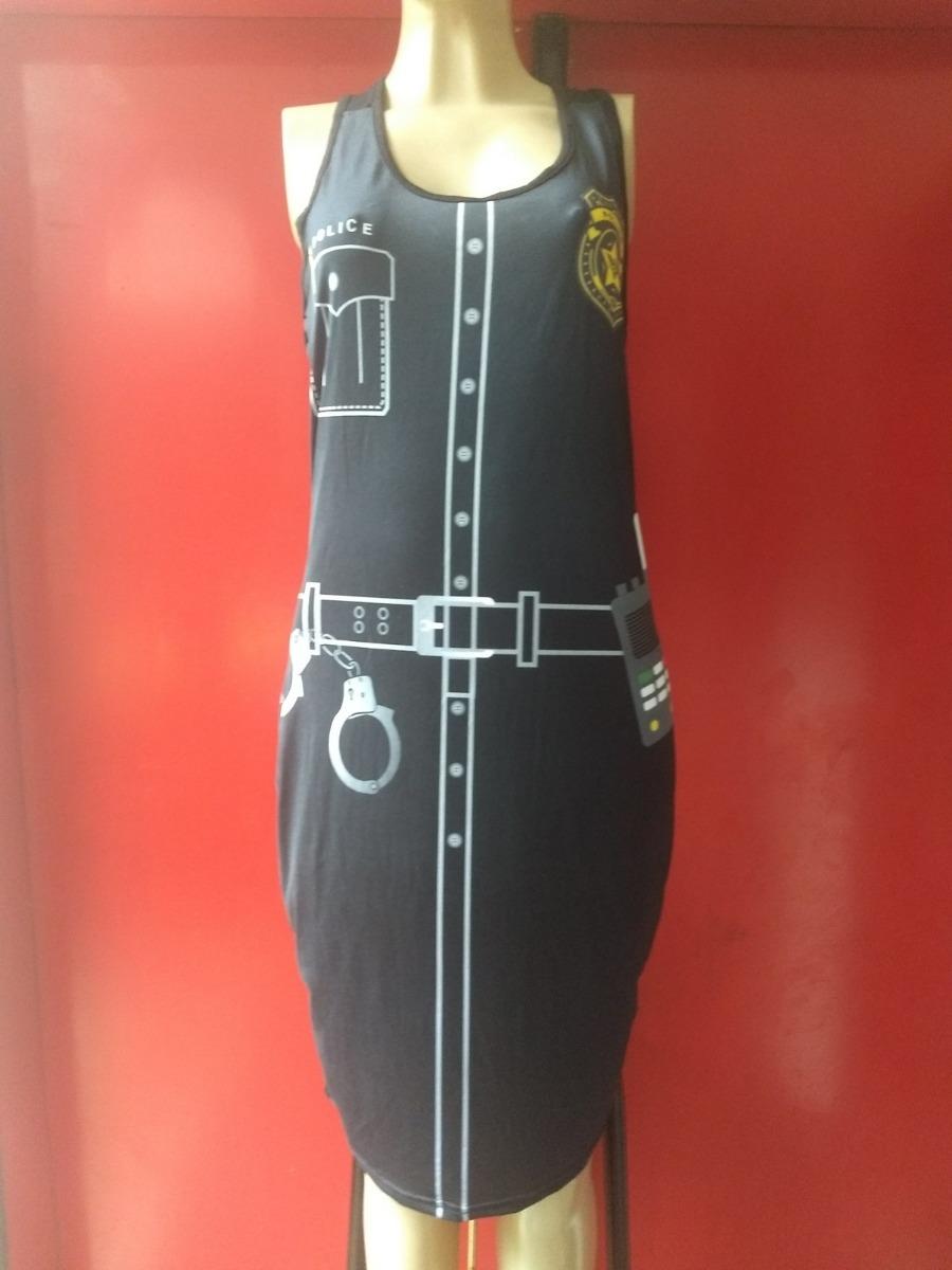 25438ba2b vestido carnaval cosplay fantasia halloween - policial tam g. Carregando  zoom.