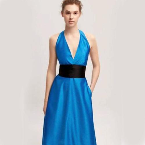 vestido carolina herrera de noche etiqueta azul original