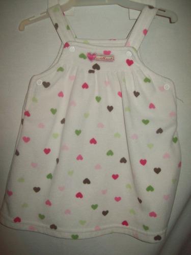 vestido carter´s 12 meses solero micropolar corazones usado