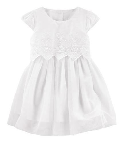 vestido carters bautismo fiesta blanco princesa