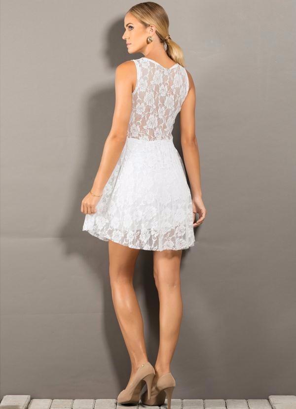 320b5741ad Vestido Casual Branco
