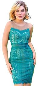 Vestido Casual Cklass Corto Dama Pol Verde 60389 Dtt