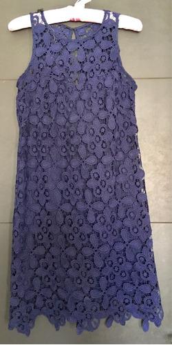 vestido casual corto azul marino