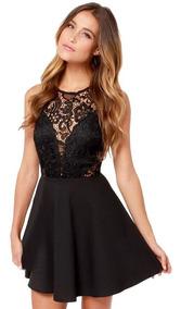 007b4c803 Vestido Tul Encaje Broderie - Vestidos de Mujer Casual L en Mercado ...