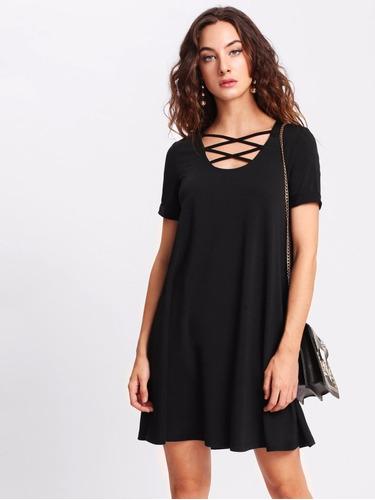 vestido casual corto de algodon