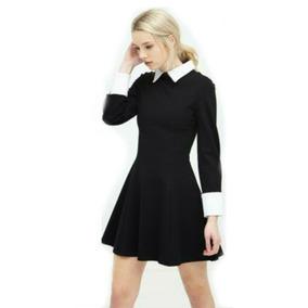 e8e1cc328 Vestido Negro Estilo Merlina - Vestidos en Mercado Libre México