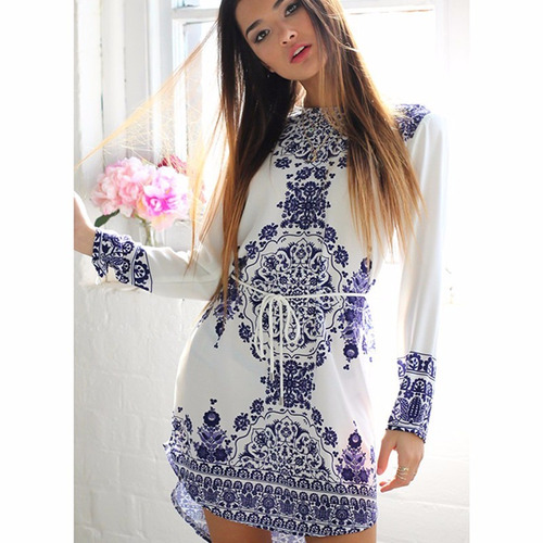 vestido casual de calidad manga larga excelente diseño moda