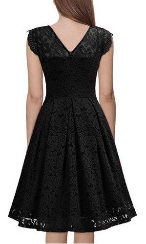 vestido casual de encaje sin mangas para dama s-2xl