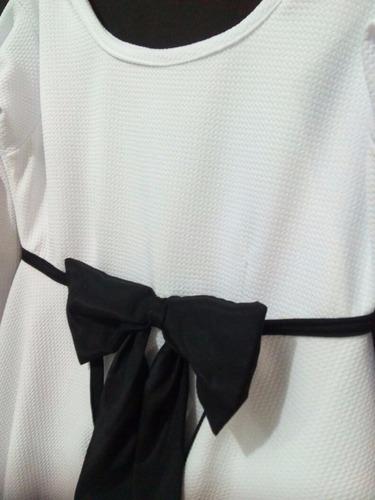 vestido casual elegante de ocasión corto blanco snow beauty