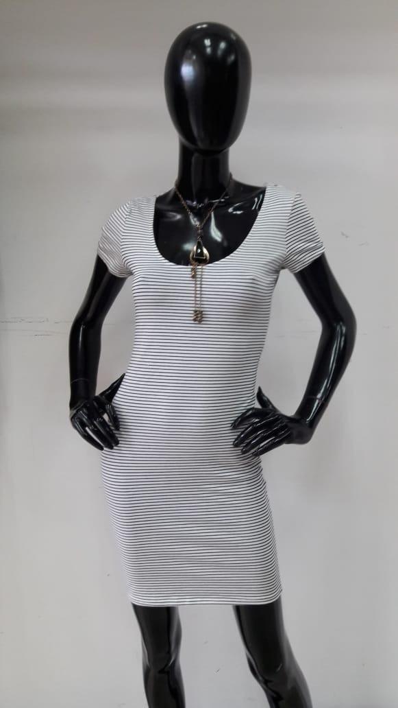 589ebc3b1c5 Vestido Casual Estampado De Rayas Manga Corta Dama -   600.00 en ...