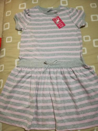 vestido casual gris con rosa epk