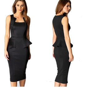 f3c58cd3e Vestido Casual Largo Bajo Rodilla Elegante Formal Sexy 575