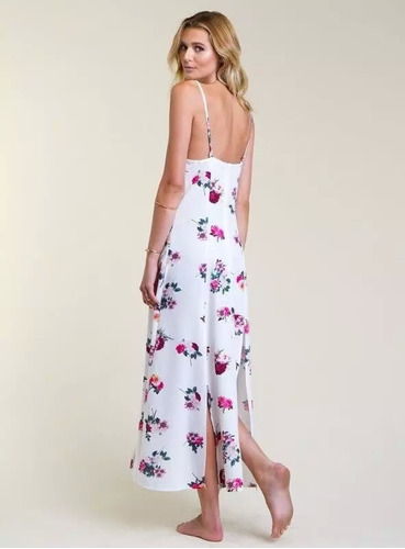 vestido casual largo temporada fresca estampado floreado