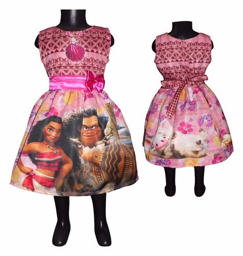 vestido casual moana princesas niña tallas 4 5 6