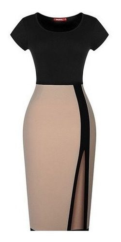 vestido casual moda europea asiatica slim fit envio gratis