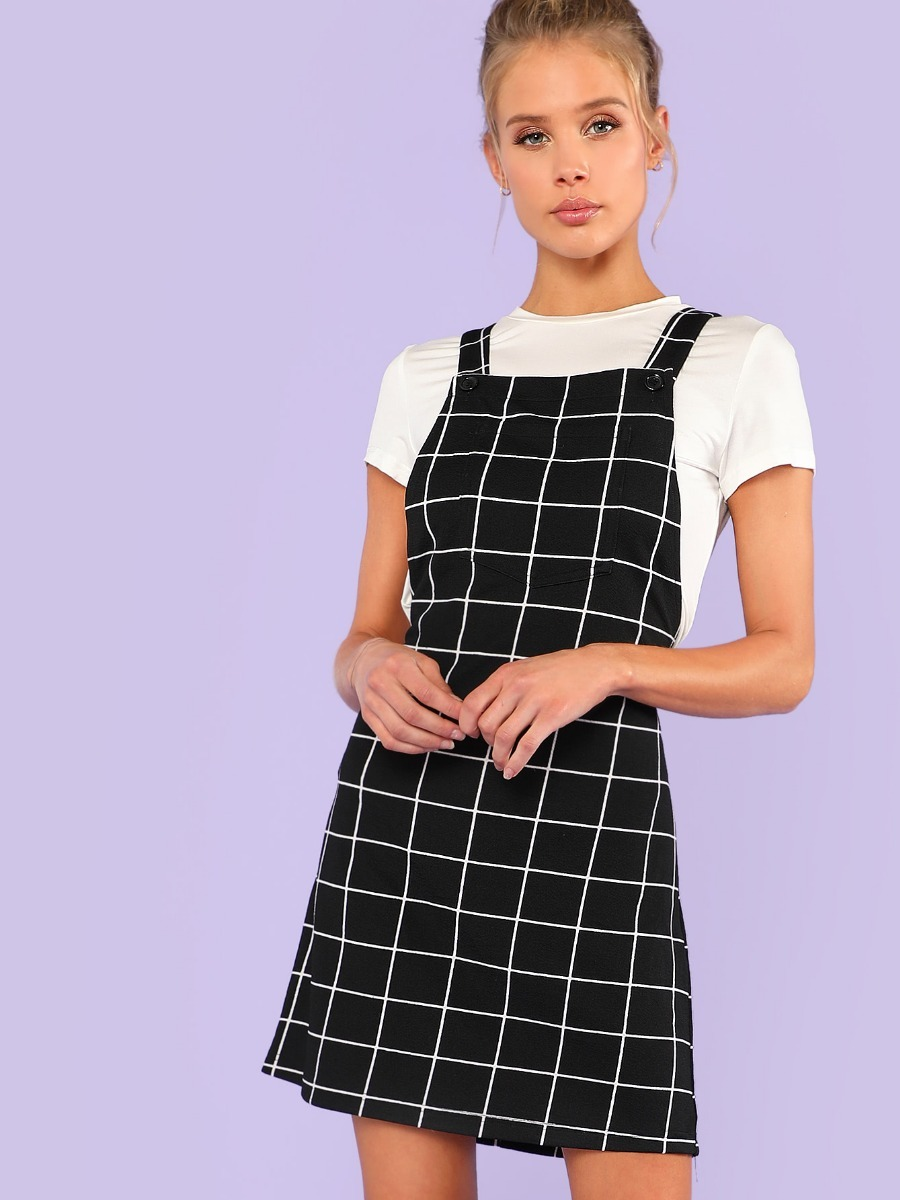 83c9570032 vestido casual overol cuadros vestidos casuales ropa mujer. Cargando zoom.
