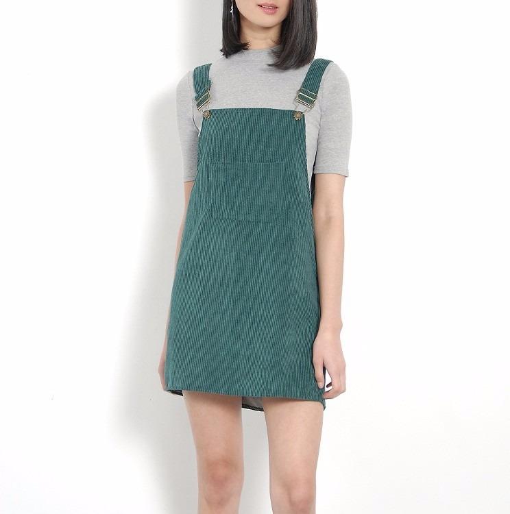 cc7163eeb Vestido Casual Overol Verde Vestidos Casuales Ropa Mujer -   399.00 ...