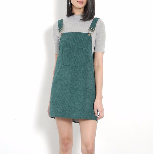 vestido casual overol verde vestidos casuales ropa mujer