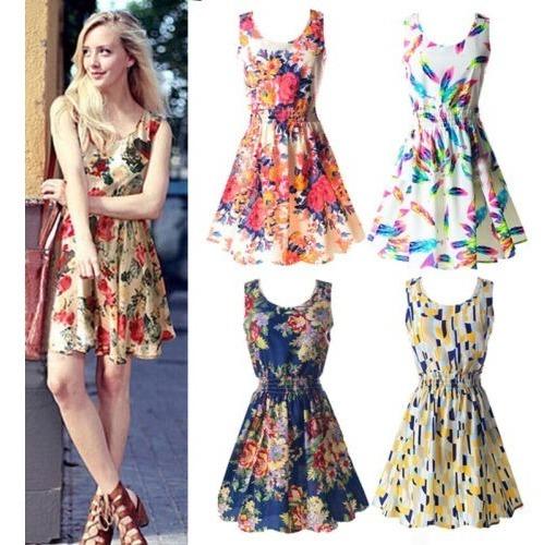 reunirse venta caliente online seleccione para el despacho Vestido Casual Primavera-verano 2019 Floral Corto Talla S