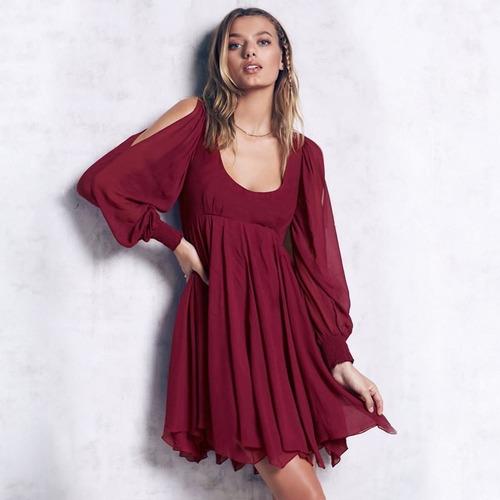 vestido casual rojo nuevo