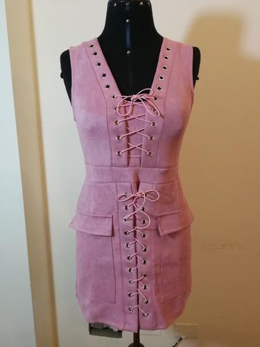 vestido casual rosado