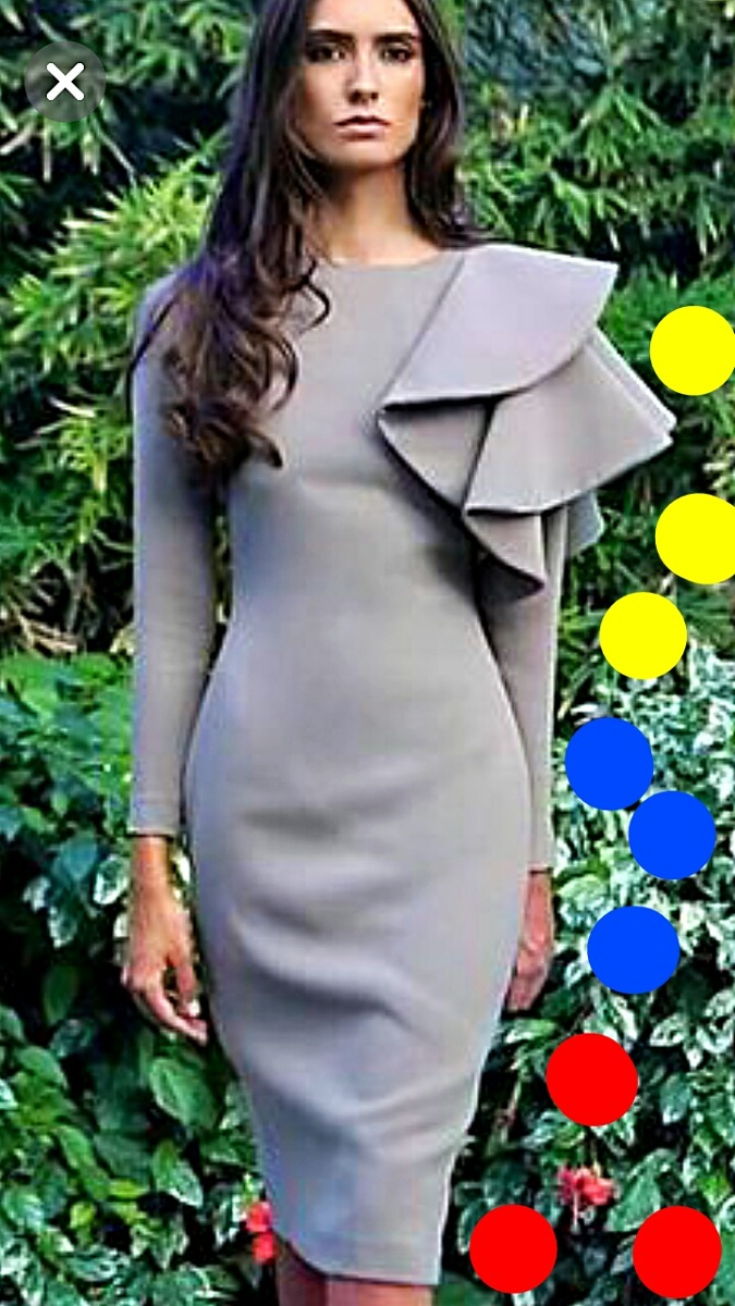 603270fb4 vestido casual y coctel para dama olanes o vuelos a la moda. Cargando zoom.