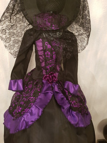 Disfraz Catrina Muerte Dama Alta Costura Sombrero Envio