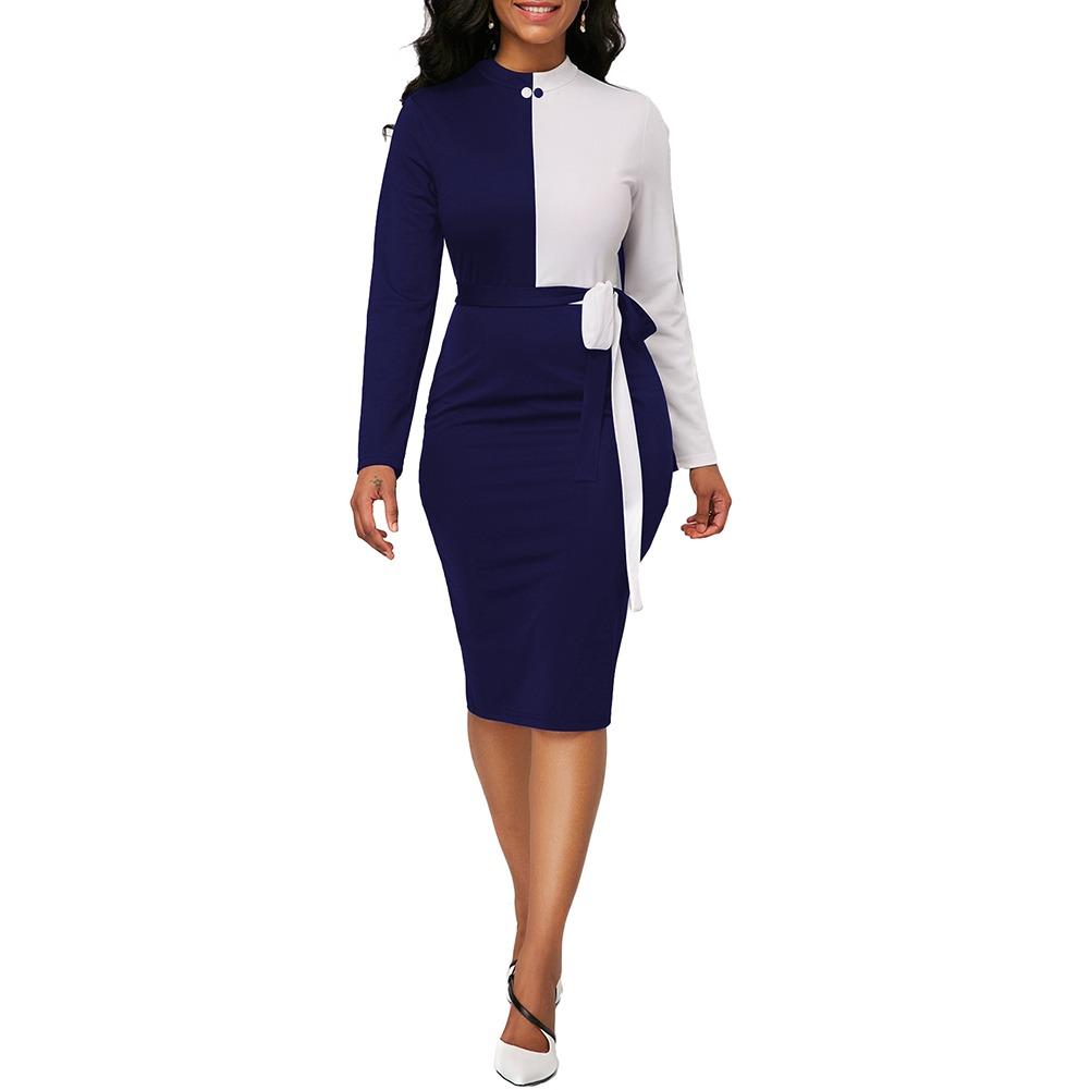 9d4736efd8 Vestido Ceñido A Media Pierna Cuello Redondo P mujer L -   504.69 en ...