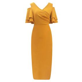 64677a08d Vestido De Fiesta Naranja Bordado - Vestidos de Mujer L en Mercado ...