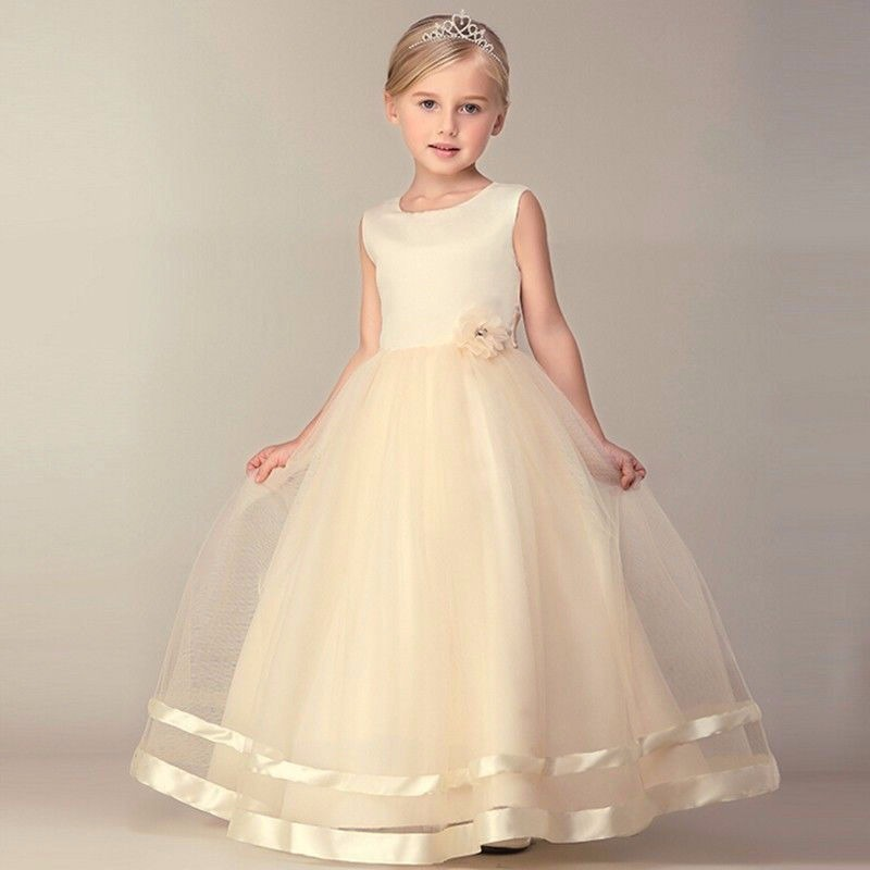 Vestido Champagne Princesa Fashion Elegante Fiesta Niña