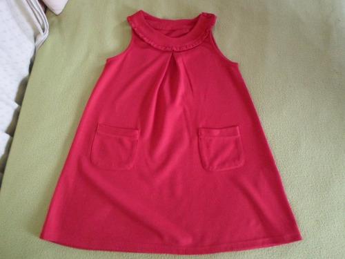 vestido cheeky  sin mangas de algodon frizado talle 8