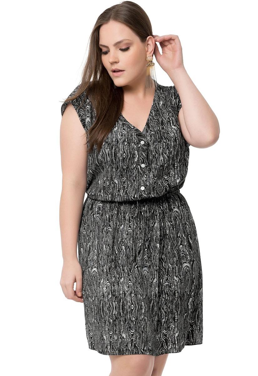db30d224e vestido chemise estampado lunender plus size feminino. Carregando zoom.
