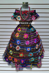 b3e99978af Traje Vestido Chiapaneca 7 Olanes De 10 12 Años Chiapas Niña
